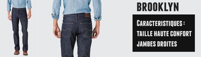 jeans lee brooklyn homme
