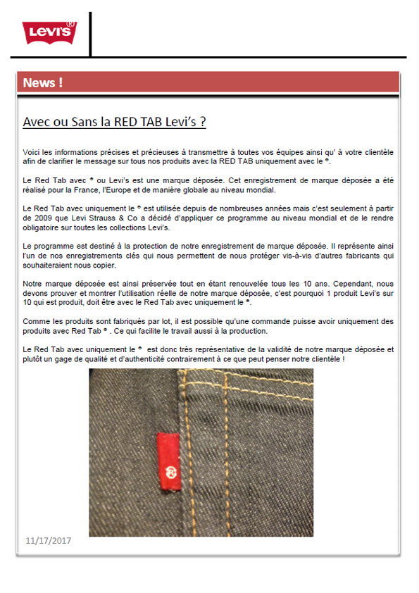 Red Tab Levi's
