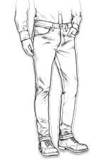 jeans Levis Droit ajusté