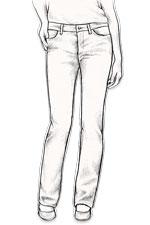 jeans droit femme